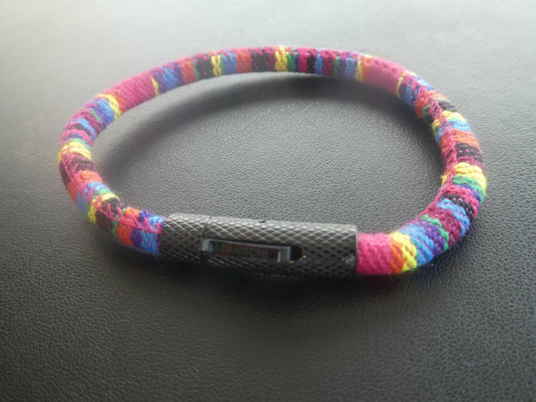 BRRG-0621 | MC ROPE Wristband FUCHSIA (GENTS size)