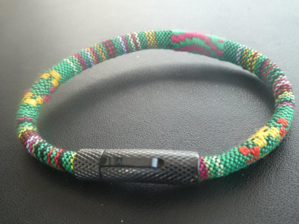 BRRG-0121 | MC ROPE Wristband GREEN (GENTS)