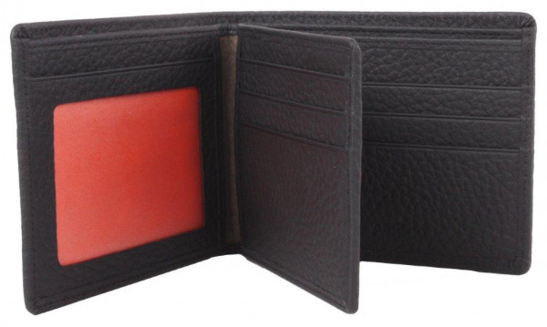 Brieftasche aus Leder für 9 Karten mit Dokumenten-Fach | Ausweistasche