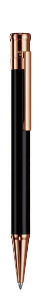 DESIGN 04 | Kugelschreiber SCHWARZ-lackiert, roségold platiert