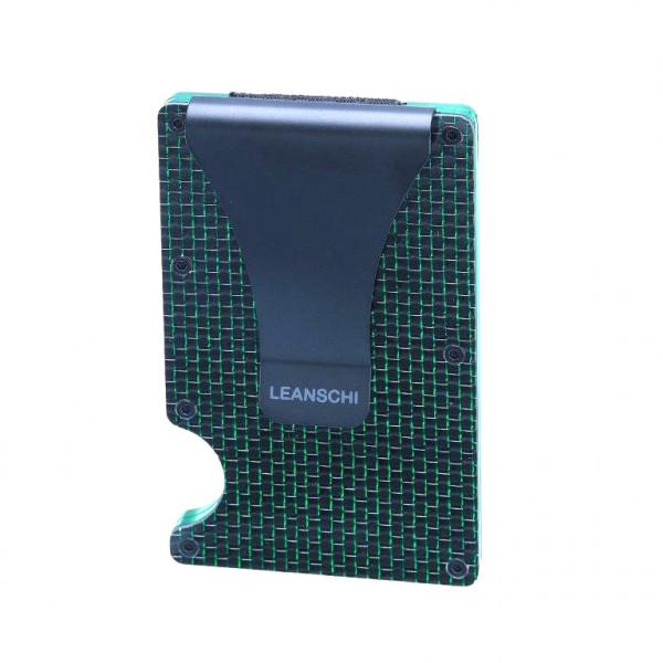 TECH-WALLET en fibre de carbone verte & noire