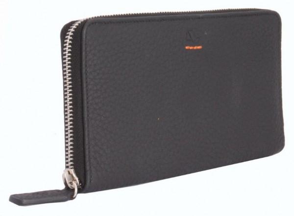 XL brieftasche mit ZIP-Verschluß im Leder