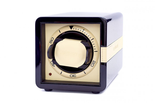 Easy-to use, affordable single watchwinder, black-ivory