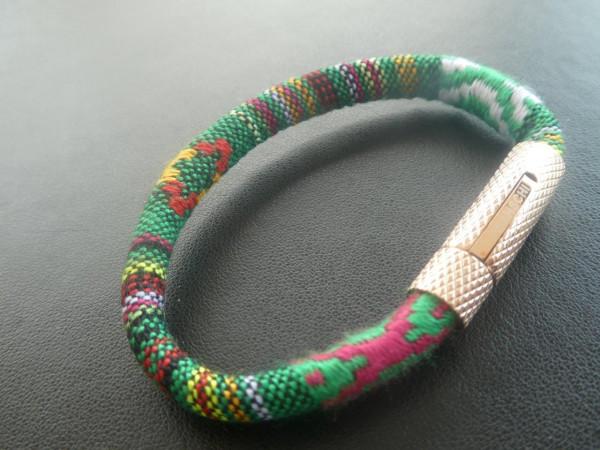BRRL-0118RG | MC ROPE Wristband GREEN (LADIES' size)