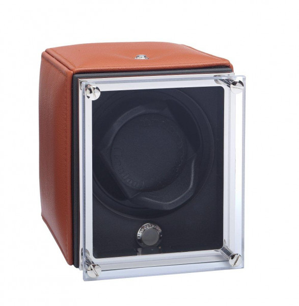 UN9005 - WATCHWINDER in TAN leather