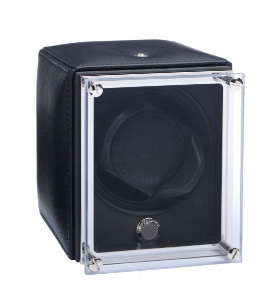UN9005 - WATCHWINDER in BLACK leather