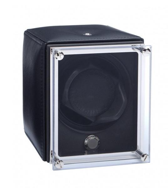 UN9005 - ROTATIF 1 montre gainé cuir NOIR